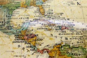 中米の地図